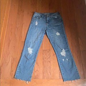 Denim ripped jeans!